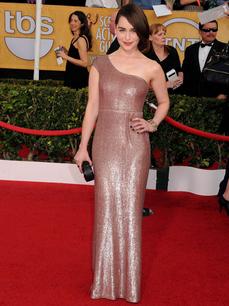 Calvin Klein Collection viste en los premios screen actors guild awards