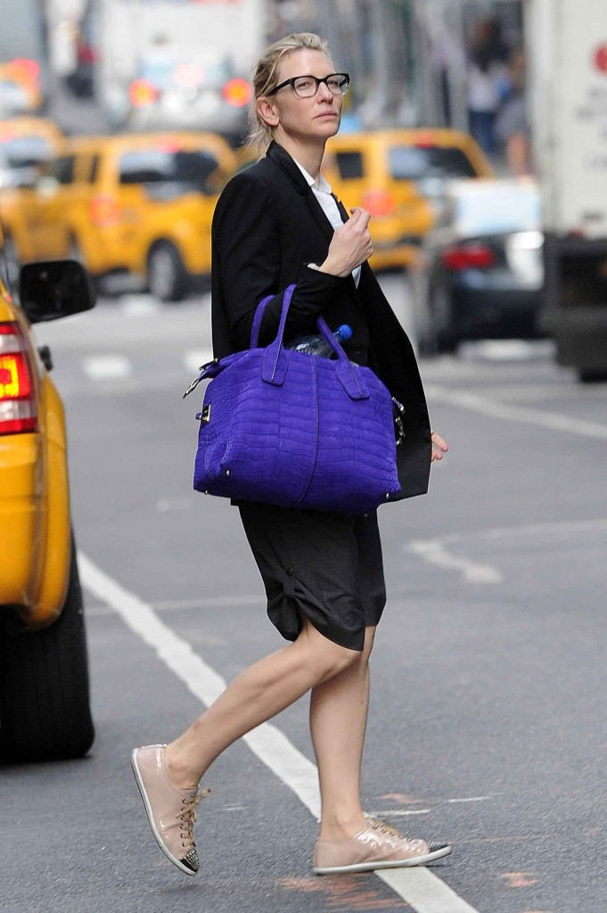"Cate Blanchett out shopping in Manhattan before attending a performance of ""Uncle Vanya"""
