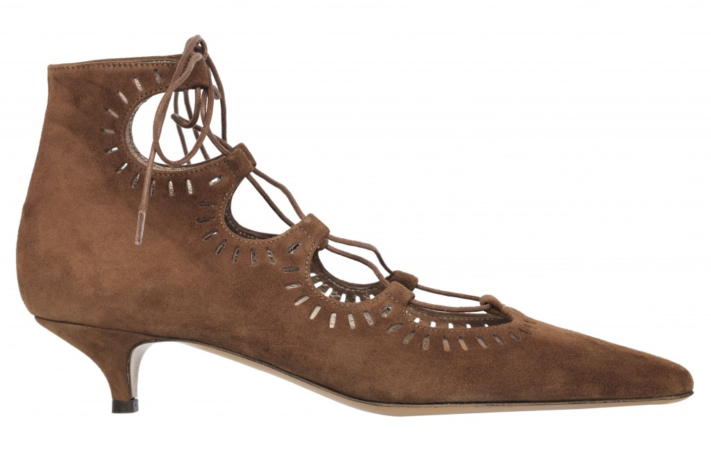 Amber brown suede 3cm heel ankle boot with lace_PVP.229